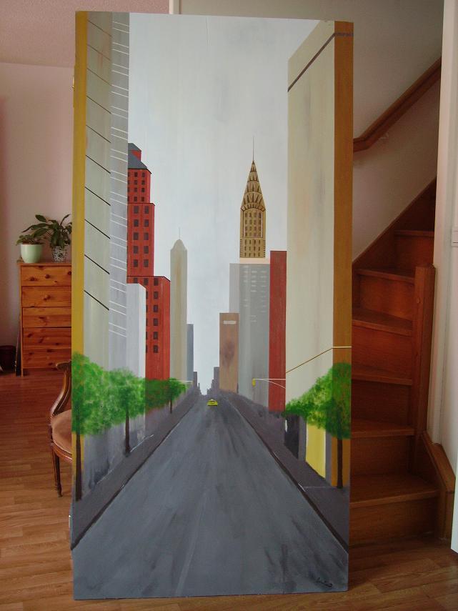 La porte - Peinture effet profondeur ...